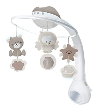 36a41cab97d1 Infantino 3 in 1 Projector musical mobile, cot & table top night light, wake