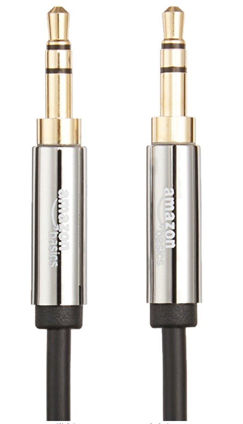 AmazonBasics - Cable de audio estéreo (conector macho de 3,5 mm a conector macho de 3,5 mm, 2,4 m): Amazon.es: Bricolaje y herramientas