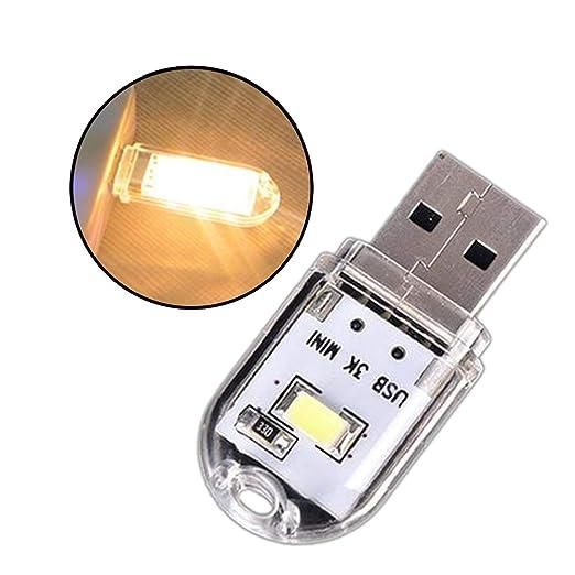 P12cheng - Luz LED USB, portátil, Mini LED, USB, luz de Noche ...