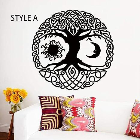 Olivialulu Arte Tatuajes de pared Sol Luna Sol Estrellas Creciente ...