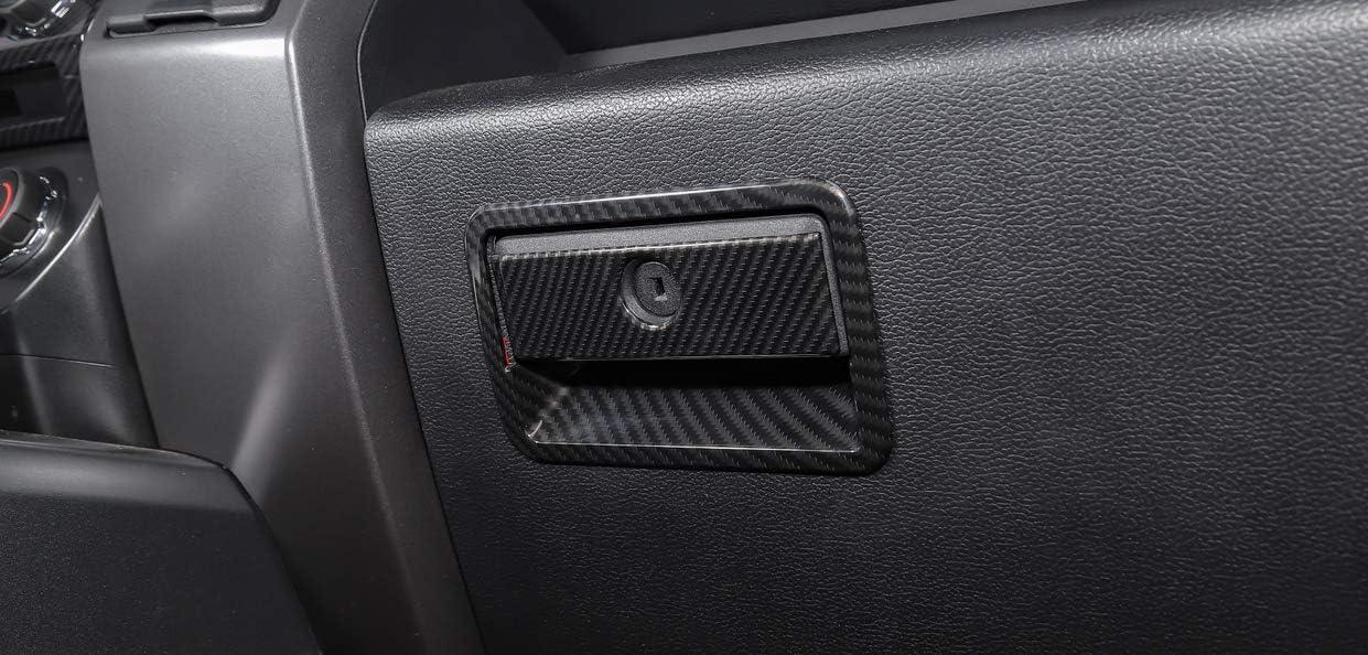 F150 Carbon fiber ABS Car Co-Pilot Storage Box Handles Cover Trim,Car Interior Trim Co-Pilot Organizer Handles Decorative Cover Trim for Ford F150 2015+