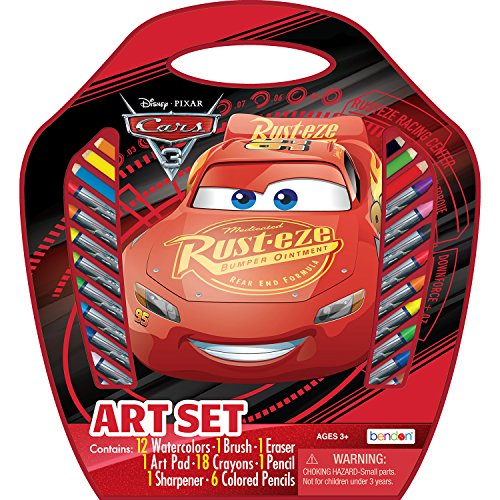 Bendon Cars 3 Art Supplies with Large Art Storage Case (AS40635)