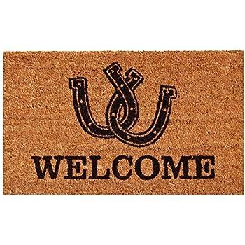 Amazon Com Home Amp More 120291729 Horses Welcome Doormat