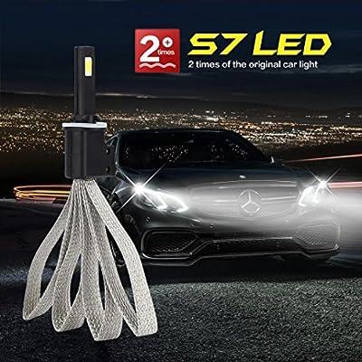 Car Light,880/881 Car LED Headlight Light Bulb Kit Set Conversion White 60W 6400LM 6000K,Tuscom