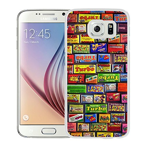 Galaxy S6 Case,Childhood Bubble Gum For Samsung Galaxy S6 Case White Cover (Gum Hoods)