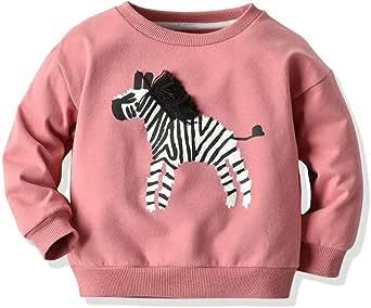 Camiseta Cuello Alto niña | Toddler Kids Baby Boys Sweatshirt Cartoon Animal Zebra Shirt Tops tee Clothes 1-6 años: Amazon.es: Ropa y accesorios