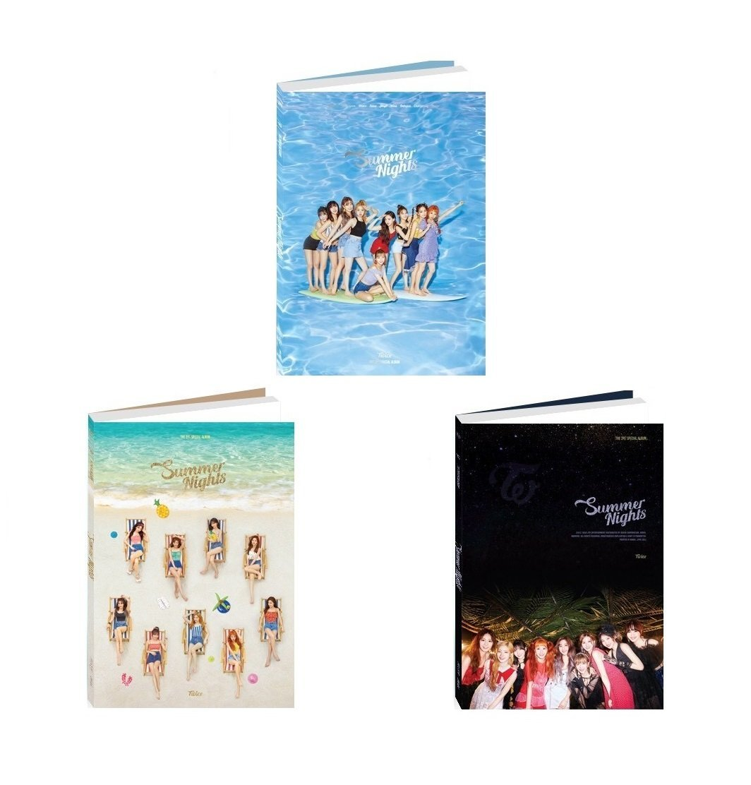 JYP TWICE - Summer Nights [A+B+C ver. SET] (2nd Special Album) 3CD+Photobook+Photocards+3Folded Poster+Free Gift by