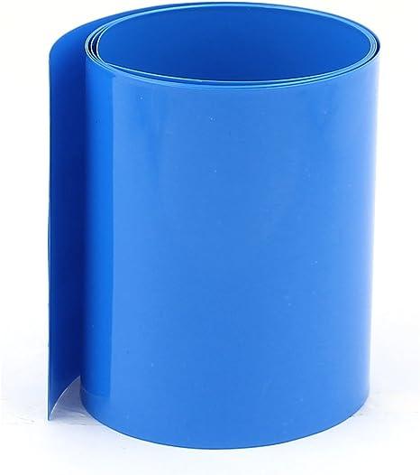 sourcing map Tube Thermor/étr/écissable 65mm Longueur 10m Largeur PVC Bleu Pour 18650 Batterie