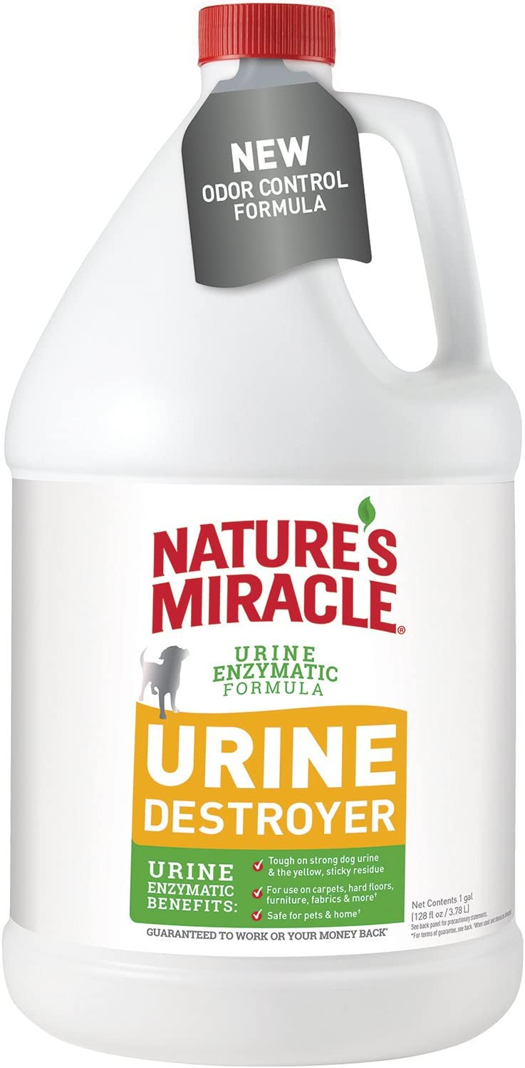 Nature's Miracle Urine Destroyer for Dogs, Light Fresh Scent, Tough on Strong Dog Urine and The Yellow Sticky Residue