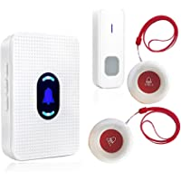 Wireless Caregiver Pager System Call Button Personal Alert Pager for Home Elderly Attendant Patient Nurses Seniors and…