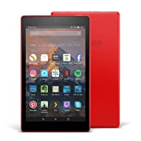 """Fire HD 8 Tablet with Alexa, 8"""" HD Display, 32 GB, Punch Red - with Special Offers (Previous Generation - 7th)"""