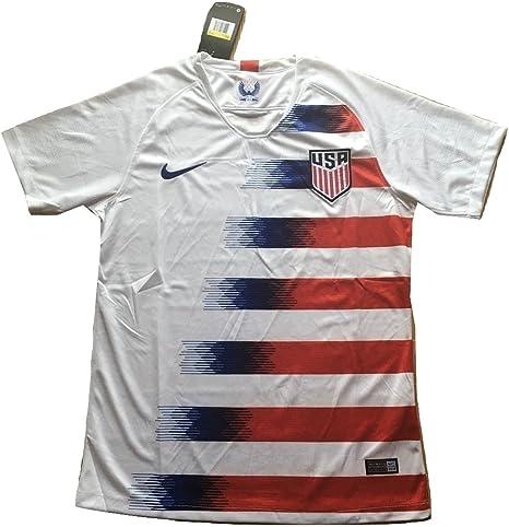 Simeonka-Hrisy - Camiseta de Fútbol para Hombre, Diseño del Equipo Nacional de Estados Unidos 2018-2019, Color Blanco, para Hombre S, Blanco: Amazon.es: Deportes y aire libre