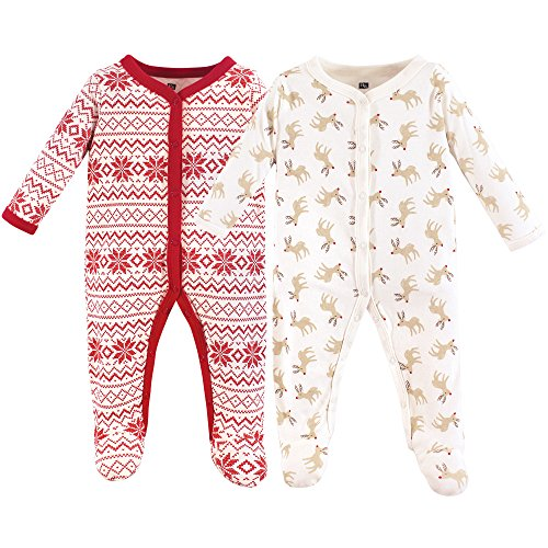 Hudson Baby Unisex Baby Coveralls/Union Suits, Christmas Reindeer,