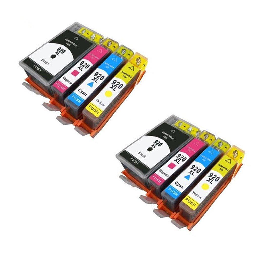 Giovanni Shop Sardegna HP 920XL Cartucce d'inchiostro Alta Capacità Compatibile con HP Officejet AIO 6500 PLUS 6000 7000 7500 A AL Stampante (2 Nero,2 Ciano, 2 Magenta, 2 Giallo) 920 XL