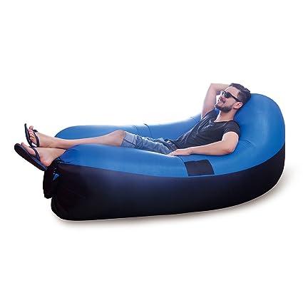 JML Air Chair Outdoor Garden Beach Inflatable Blow-Up Sofa   Air Bed Blue   Amazon.co.uk  Kitchen   Home 6589b299ebd18