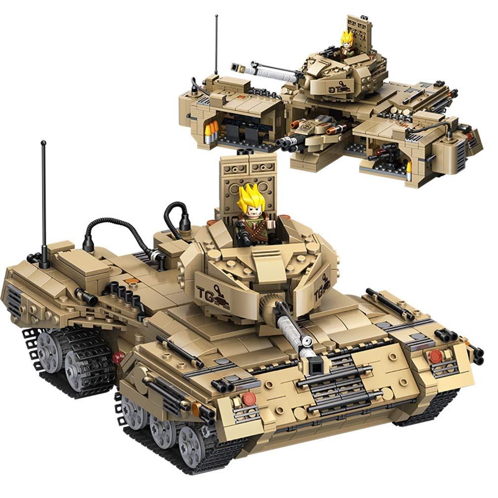 【はこぽす対応商品】 P1016 P1016 3d in 3d diyパズルビルディングブロックおもちゃ、2 in 1変形軍事タンクビルディングブロック玩具キットdiy教育子供誕生日プレゼント Brown B07QPKBHQ8, 簸川郡:ff74bc63 --- a0267596.xsph.ru