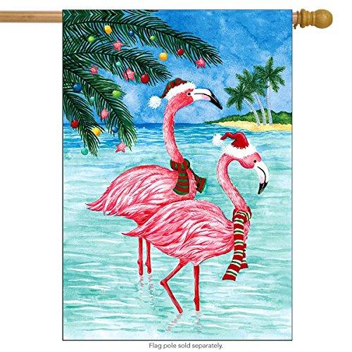 (Briarwood Lane Christmas Flamingos Nautical House Flag Tropical Beach Holiday 28