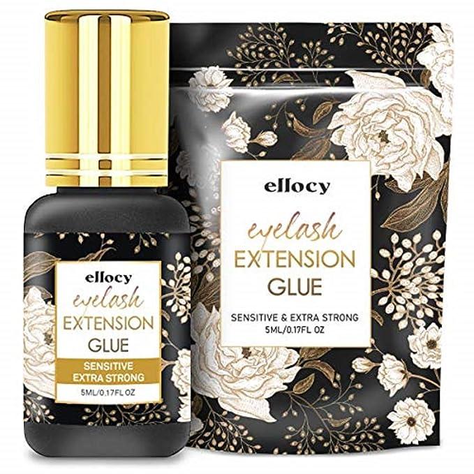 Ellocy Extra Strong Eyelash Extension Glue - Best Professional Eyelash Extension Glue