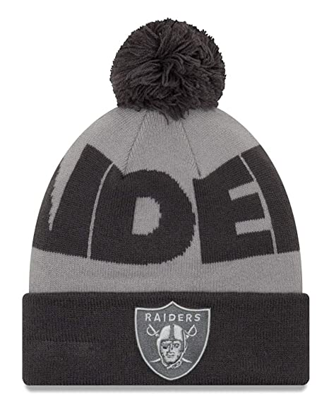 Image Unavailable. Image not available for. Color  New Era Oakland Raiders  NFL Logo Whiz 3 quot  Cuffed Knit ... 8ac2768fe