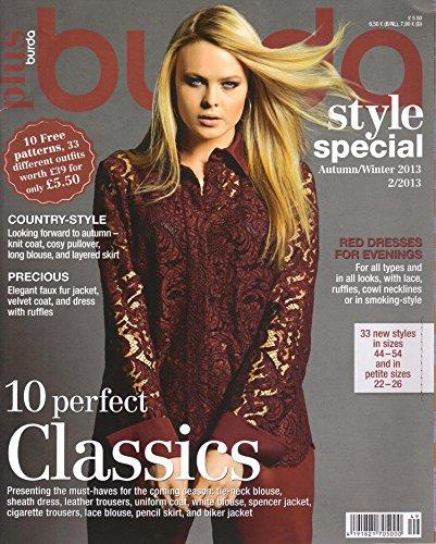 Burda Plus Pattern Magazine Fall/Winter 2013 Sewing -