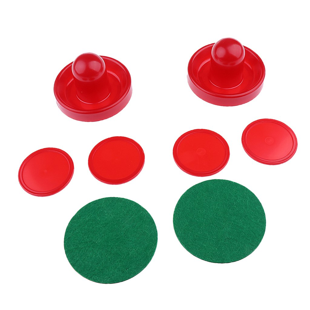 MagiDeal Set 2 Pusher Hockey de Table Avec 4 Rondelle de Hockey Table Accessoire Air Hockey - Rouge, S