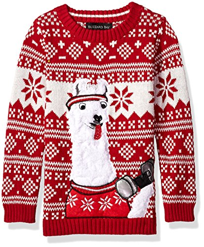 Little Boys' Llama Fitness Xmas Sweater