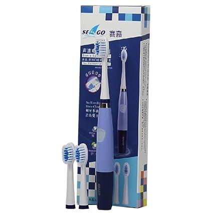 STONG cepillo de dientes eléctrico con 3 cabezas de cepillo – la tecnología de los ultrasonidos