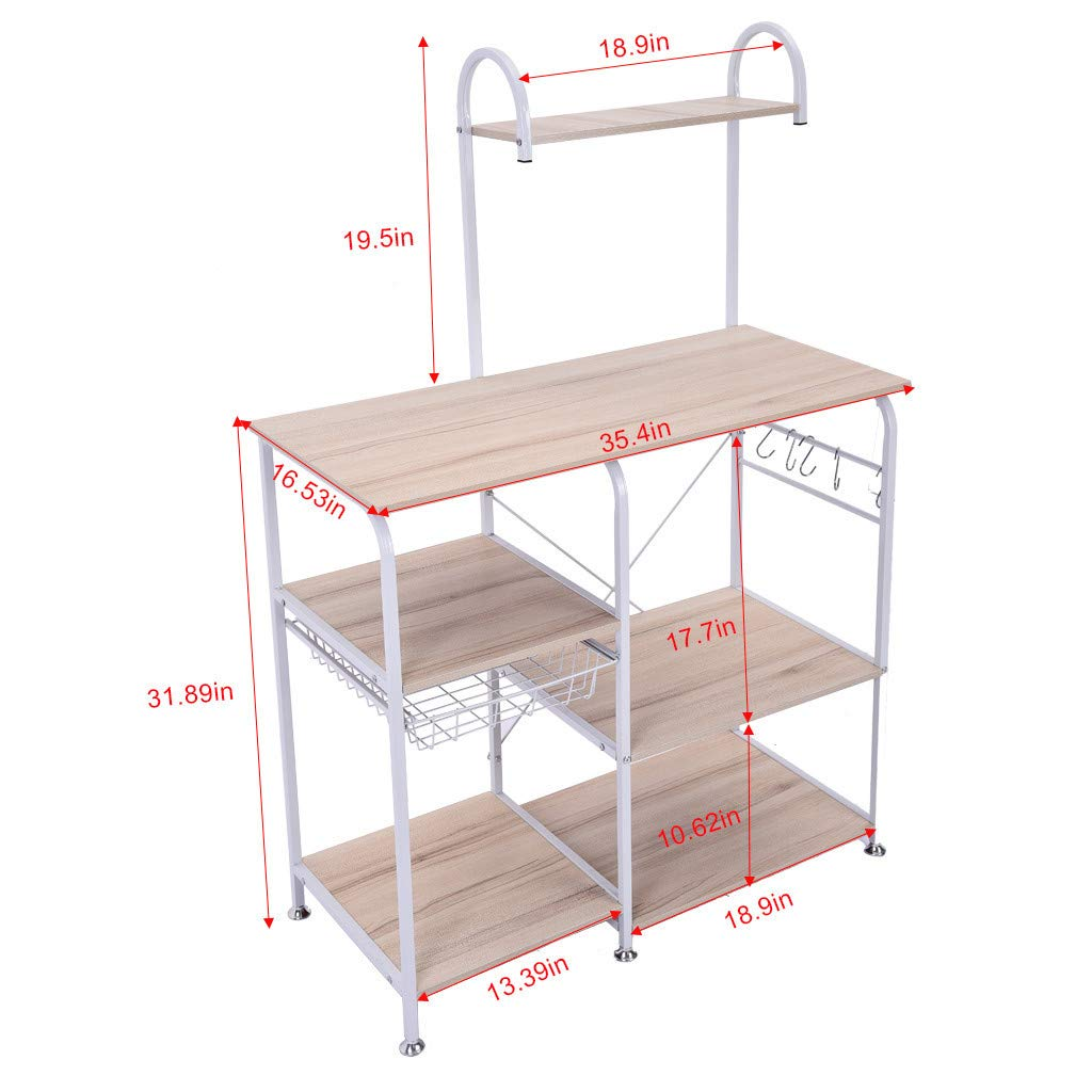 Shelf,Multifunctional Kitchen Rack Microwave Oven Floor Shelf Storage Storage Cupboard,Multipurpose Shelf,Tools & Home Improvement White by Chenchen Itd (Image #8)