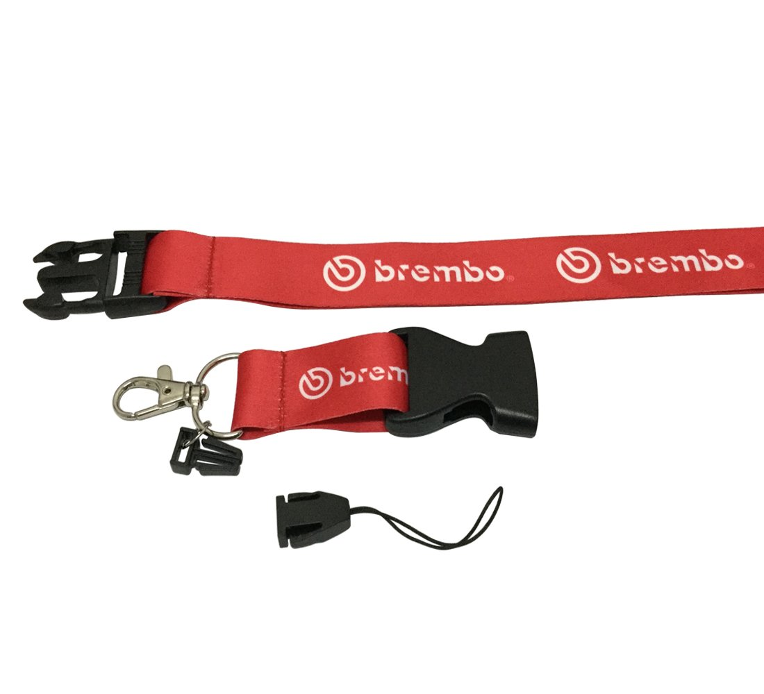 Coloryard 1pc Red Color USA Ship New Quick Release Neck Strap Lanyard Keychain Keyring Car Keys House Keys ID Badges Card For Speeding Car Performance Team Brembo