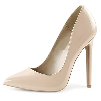 Amazon.com | Summitfashions Womens Nude Color Heels Classic ...
