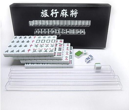 Viaje Mahjong Mini 144 Azulejo de Mahjong Juego de Mahjong Chino Conjunto de Mesa Viaje Juego Chino Tradicional Mahjong Juegos de tamaño portátil y Ligero (Color : Green): Amazon.es: Hogar