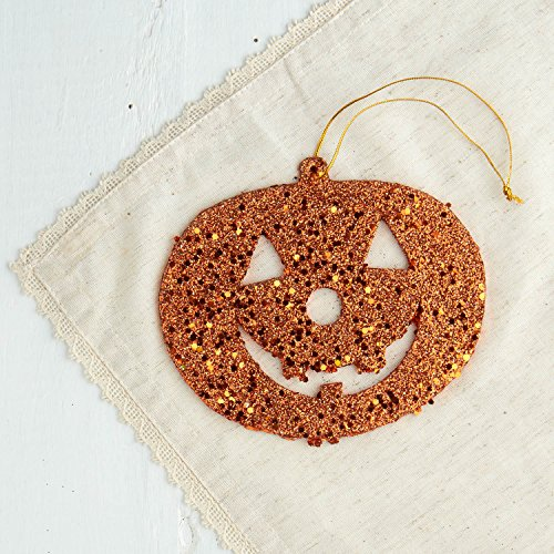 Factory Direct Craft 6 Glittered Halloween Jack O Lantern Ornaments ()
