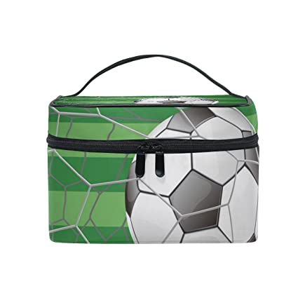 COOSUN Balón de fútbol en meta con la bolsa de hierba campo de la ...