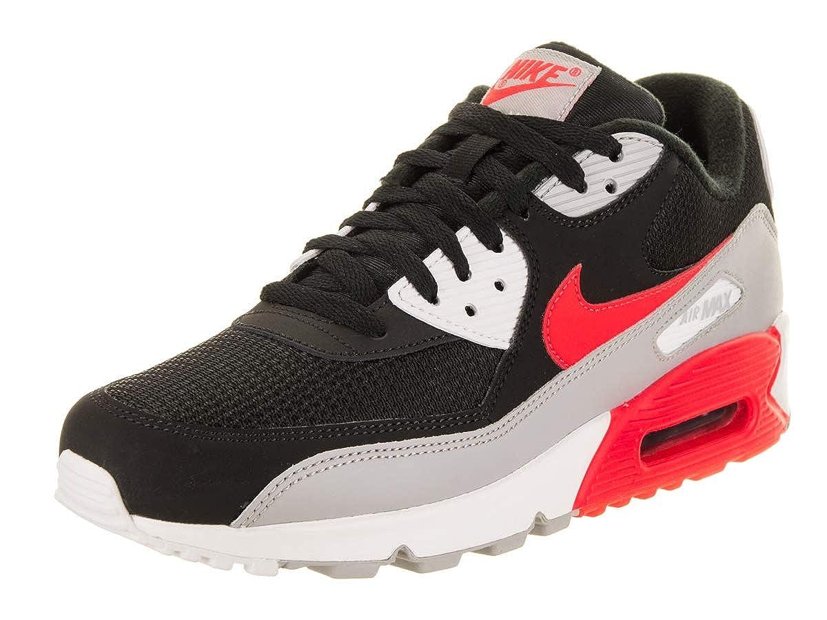 MultiCouleure (Wolf gris Bright Crimson-noir-blanc 012) 48.5 EU Nike Air Max 90 Essential, Chaussures de FonctionneHommest EntraineHommest Homme