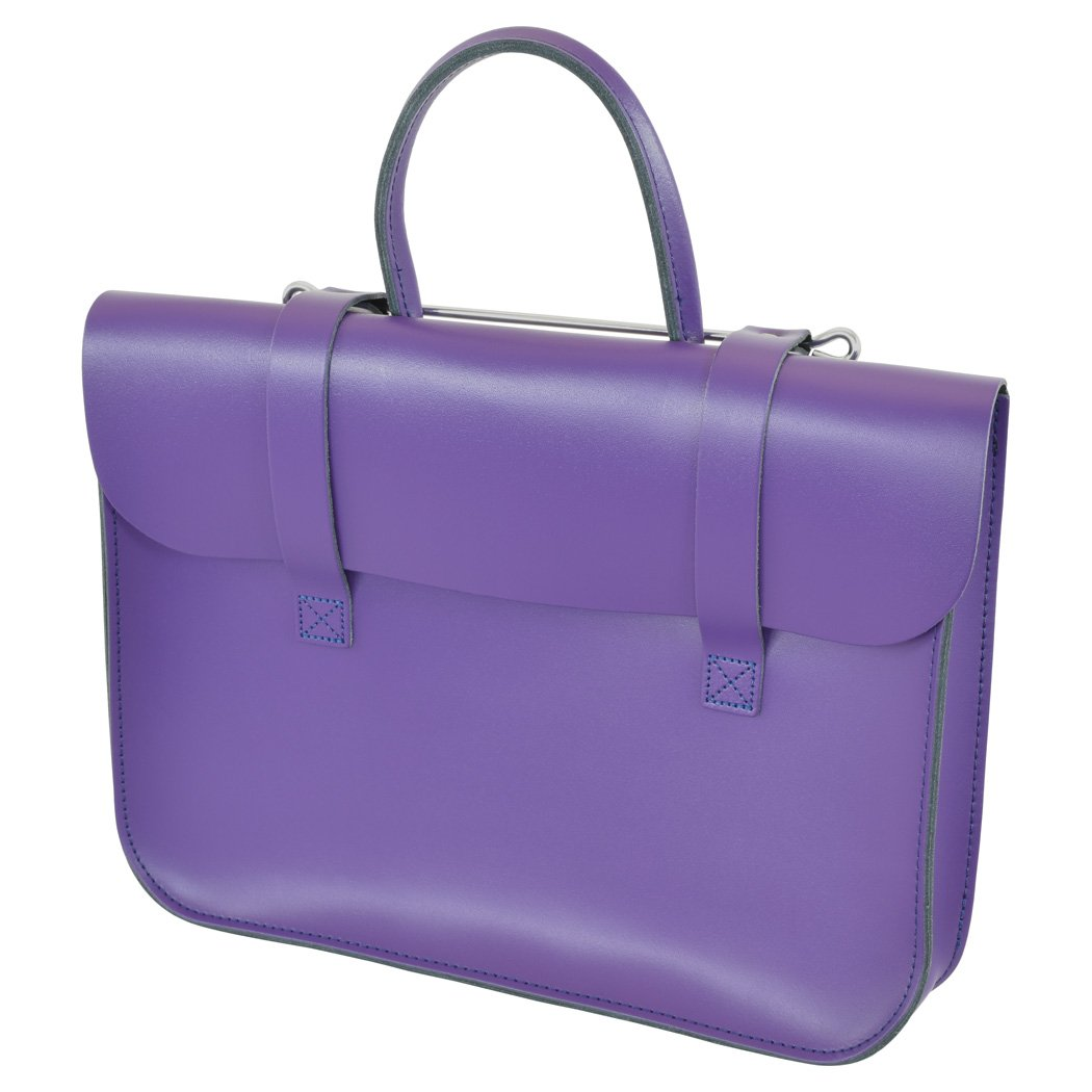 Oxford Traditional Leather MC1-PU Traditional Classic Leather Music Case, Purple