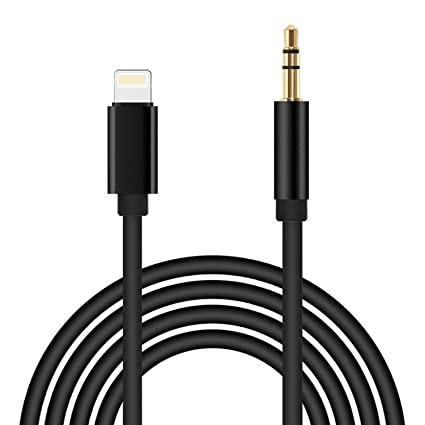 iPhone 7 Car Aux Cable Lightning to 3.5mm Male Aux Audio Cable, KOROMU 3.3