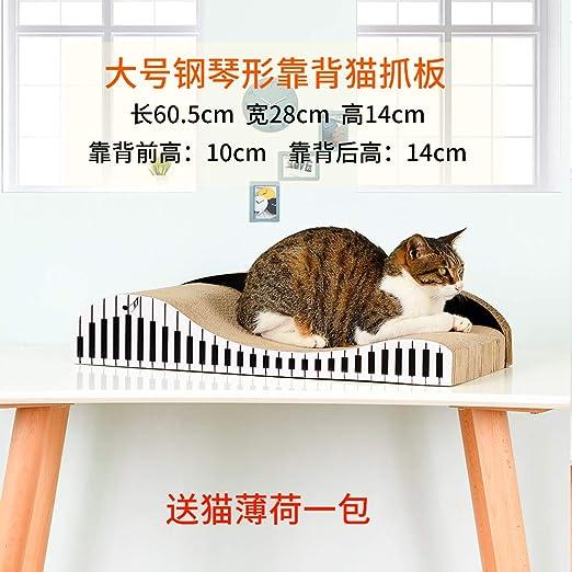 SUIZNS Placa De Agarre De Gato De Espalda A Espalda Sofá Gato Nido Gato Crawl Rack Cat Mill Mill Mill Mill 60 cm Patrón de Piano: Amazon.es: Productos para mascotas
