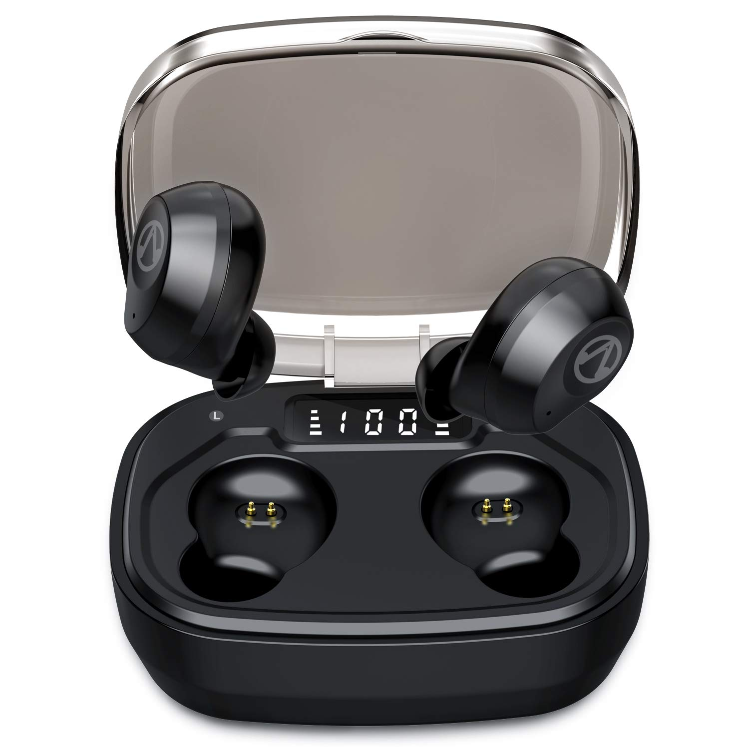 U-ROK Bluetooth 5.0 Wireless Earbuds with 1600mAh Portable Charging Case, Touch Control in-Ear Earphones Built-in Mic HD Stereo Sound IP67 Waterproof Headphones for Running Sports