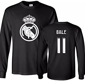 47e80c2a0 Tcamp Real Madrid Shirt Gareth Bale  11 Jersey Men s Long Sleeve T-shirt