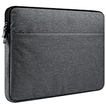 "CCPK 13 Inch Laptop Sleeve for 13-inch MacBook Air Sleeve Case Cover Protective Bag compatible with 13.3-inch MacBook Pro Retina Surface Dell Samsung Sony Lenovo Acer HP Notebook 12.9"" iPad Black Gray"