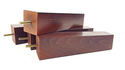 Patas de madera para muebles de 220 mm de alto, patas de ...