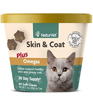 Amazon.com: naturvet Skin & Coat Plus Omegas para gatos, 60 ...