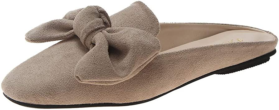 Women/'s Comfy Slip On Oxford Loafers Mules Casual Slipper Shoes 8.5M
