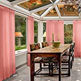 MacochicoTab Top Sheer Curtains Indoor Outdoor Rose Draperies Home Fashion Dustproof Privacy Protection Windproof Sun Insulated for Living room Patio Garden Backyard 100Wx 96L (1 Panel)
