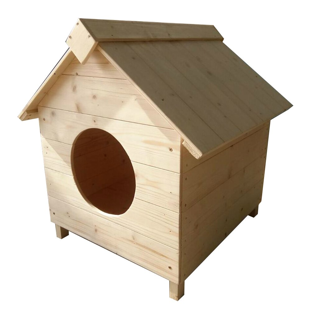 C Medium C Medium LDFN Small Wooden Dog House Large Kennel Wood Niche Pet Plush golden Retriever Indoor House,C-M