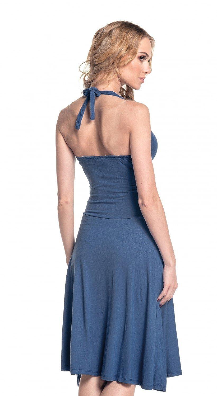 Glamour Empire. Women\'s Halterneck Summer Skater Party Jersey Dress ...