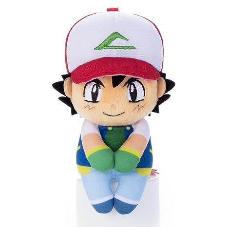 "Pokemon Chokkorisan Ash Ketchum Takara Tomy Plush Doll 13 cm Peluche 5.1"""