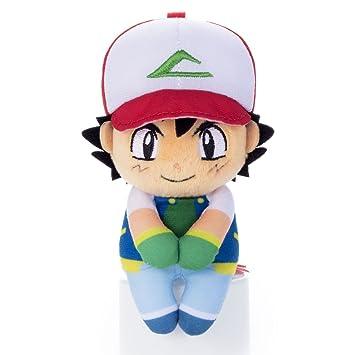 Pokemon Chokkorisan Ash Ketchum Takara Tomy Plush Doll 13 cm ...
