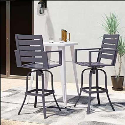 Incredible Lsi Outdoor Aluminum Bar Stool High Patio Dining Chair Set Counter Height Metal Bar Stools Home Bar Furniture Set For Patio Garden Pool Machost Co Dining Chair Design Ideas Machostcouk