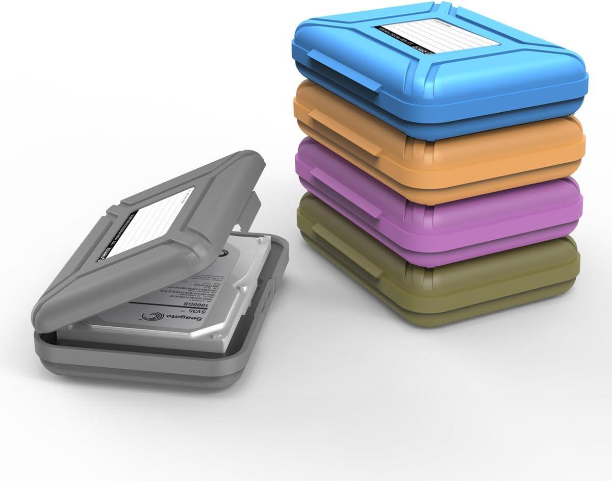 ORICO 3.5 Hard Drive Case Protective Box Storage Case Organizational Box 5 Pack Grey